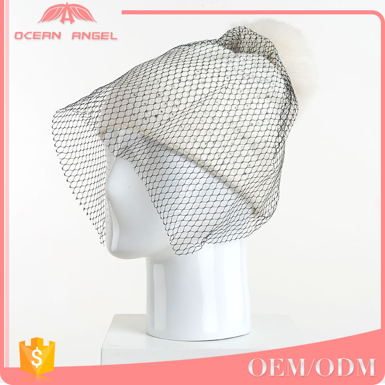 Top quality OEM/ODM selling pom pom winter hat women fur ball knitting beanie
