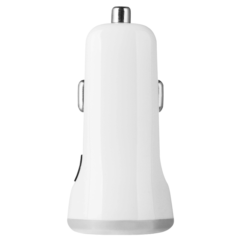 Baseus Tiny-Color Series White Dual USB Car Charger for iPhone for Samsung mobile phone