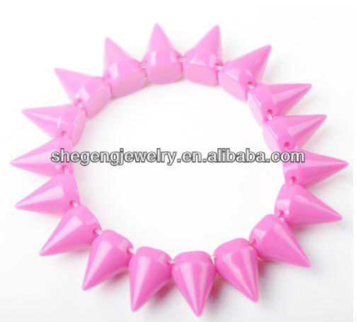 Fashion Rock Punk Style Rivet Studs Spike Elastic Stretch Bracelet Bangle