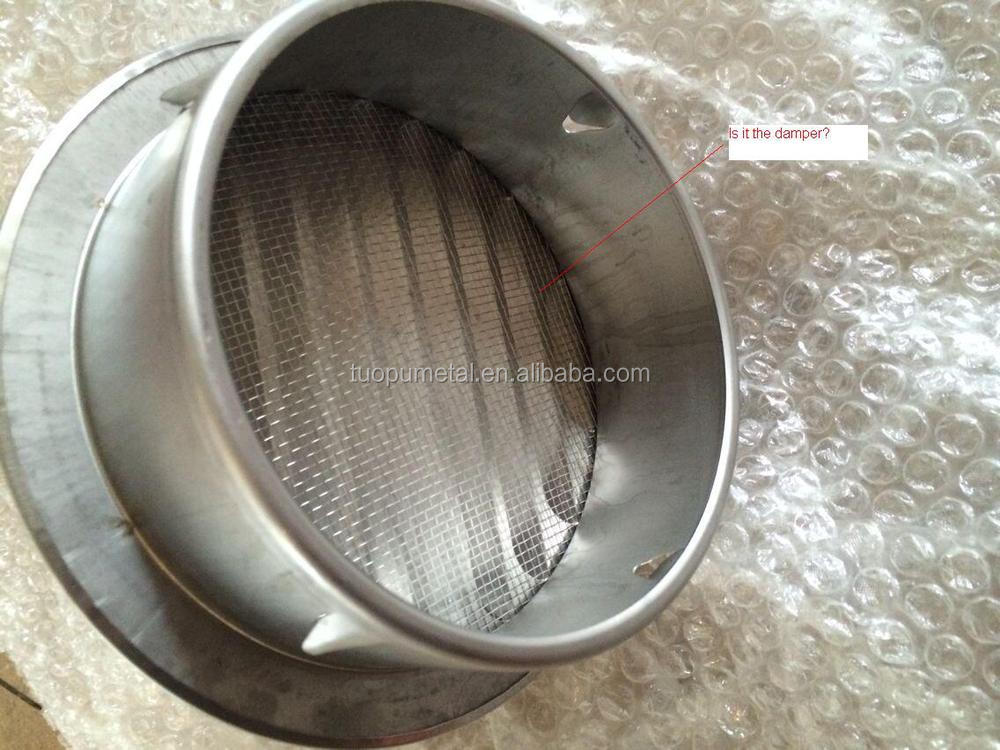 Stainless Steel Dryer Vents With A Damper Ss304 Round
