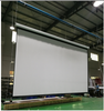 400 inch matte white tubular motor projector screen motorized
