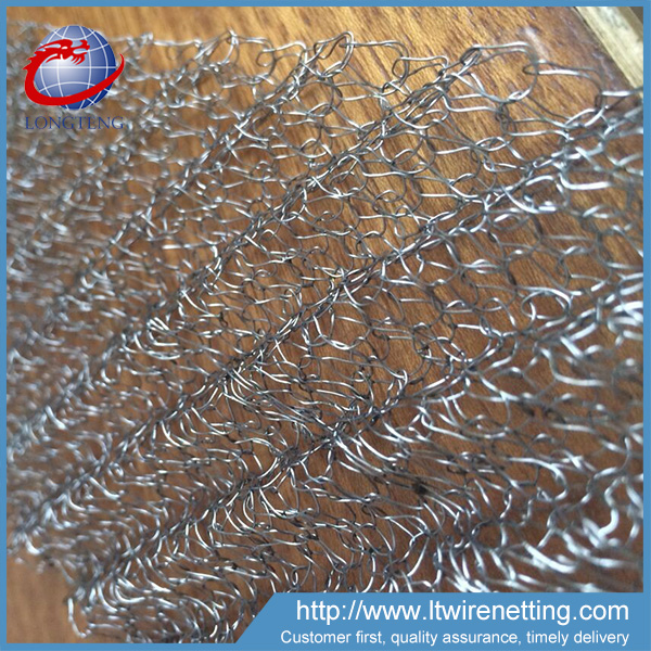 Professional manufacturer supply corrugated type copper knitted wire mesh,exhaust purification knitted wire mesh