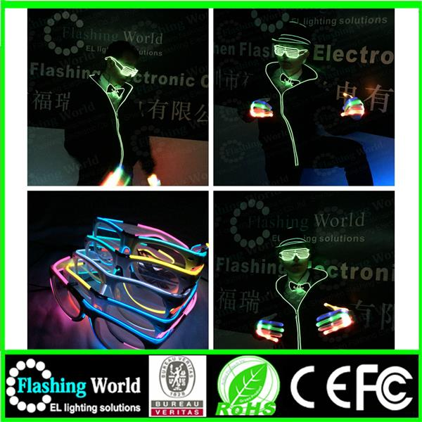 cool flashing Best service el wire flashing sun glasses