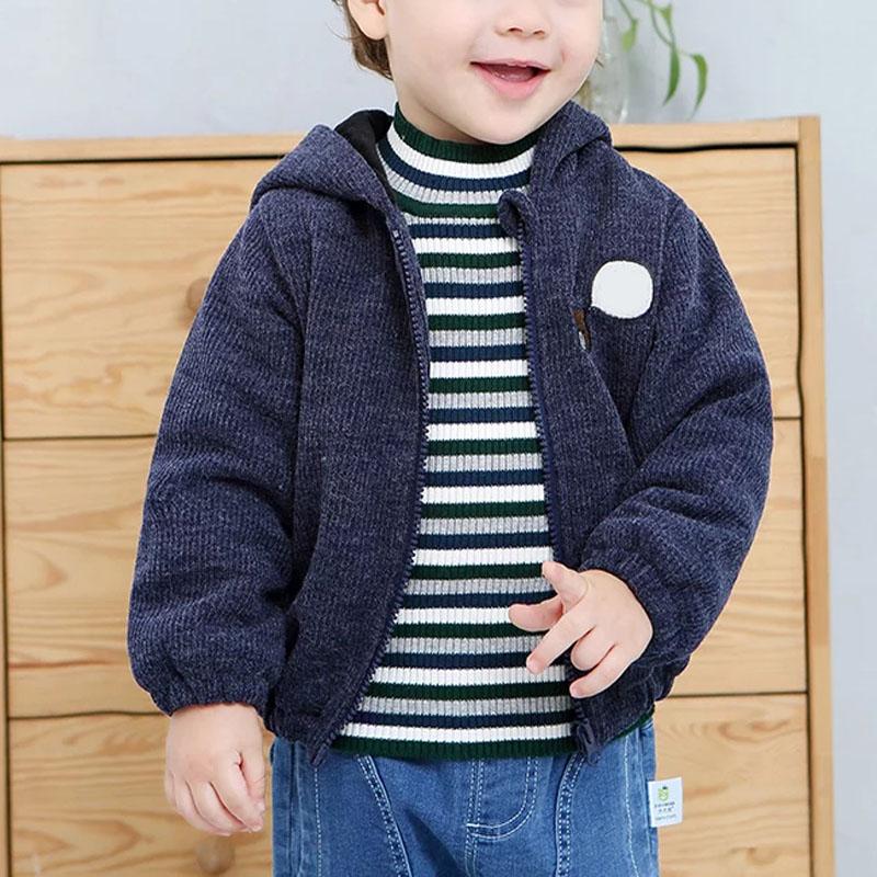 Yuvarlak Boyun Örme% 100 Pamuk Triko Tasarımları Çocuklar İçin