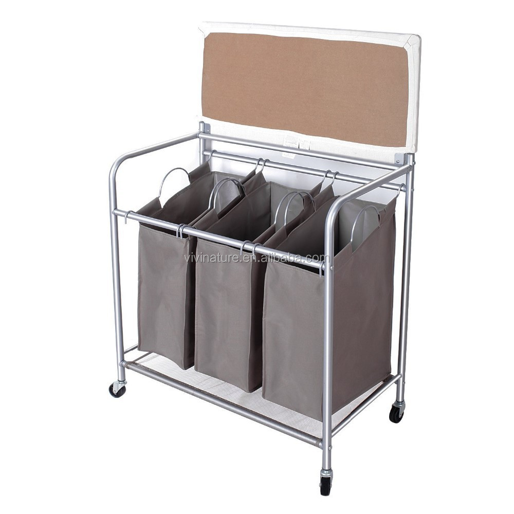 - Vivinature 3 Bag Laundry Sorter With Folding Table - Buy Laundry