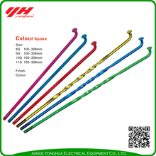 Widely used superior quality colourful bicycle spokes