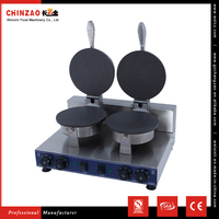 CHINZAO China Supplier Manufacture Stainless Steel Double Head Ice Cream Waffle Cone Maker