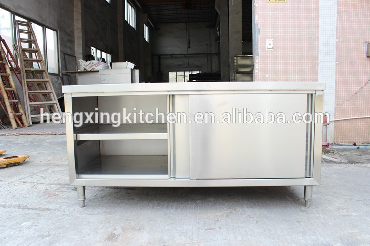 Kitchen Working Table With Sink Work Cabinet Stainless Steel