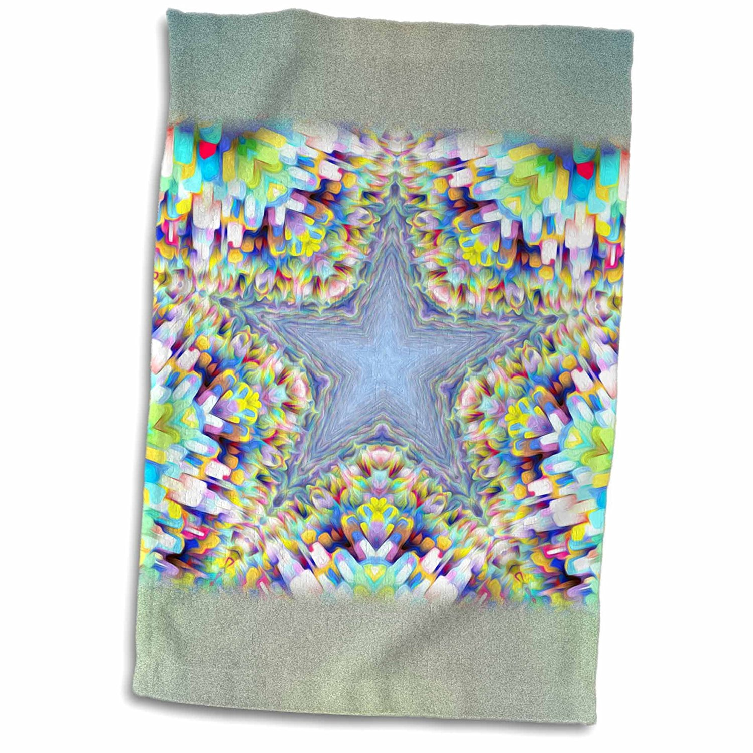 3dRose Phil Perkins - Abstract - Colorful Abstract Star - multicolored star design with abstract shapes - 12x18 Towel (twl_243437_1)