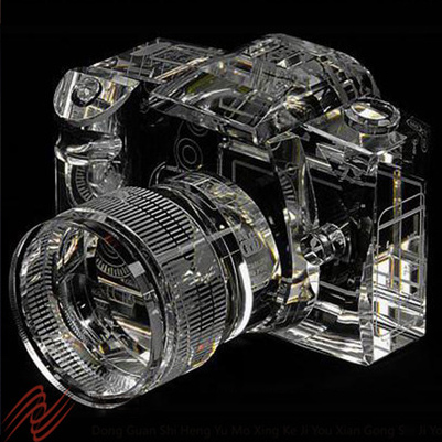 2017 exquisite camera shape crystal, glass model