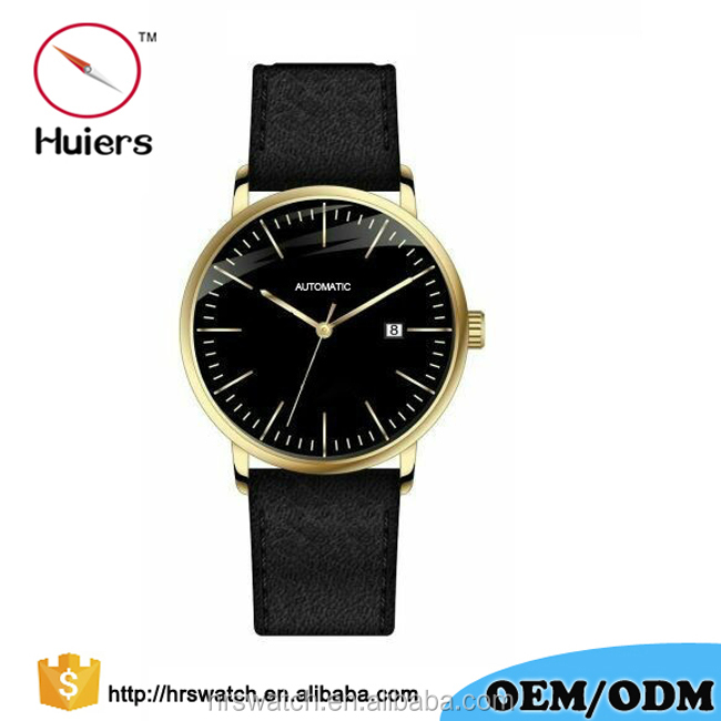 2017 Huiers fashion classical mens classic watches japanese automatic mature man watches