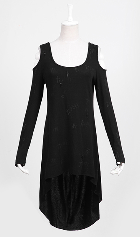 Wholesale Womens Casual Punk Gothic Rock Black Long Cardigan Tee ...