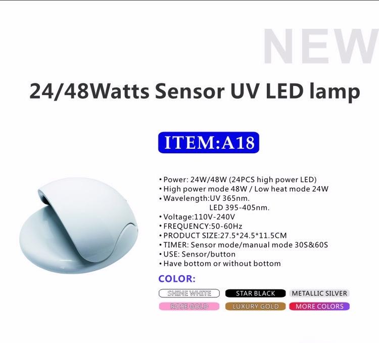 48w Professional Sunlight Uv Led Nail Lamp Led Nail Dryer Led Uv