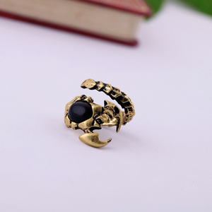 Wholesale New Retro Personality Ancient Gold Dice Shape Plating Total Travel Commemorative Unisex Ring