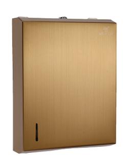Hotel Supplies And Equipment Stainless Sliver Matt Gold 1 4 Key Paper Towel Dispenser