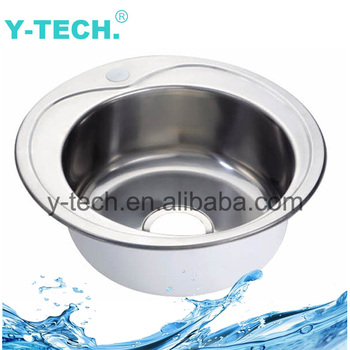 Yk-4747 Stainless Steel Sink Single Small Round Bar Trough Basin ...