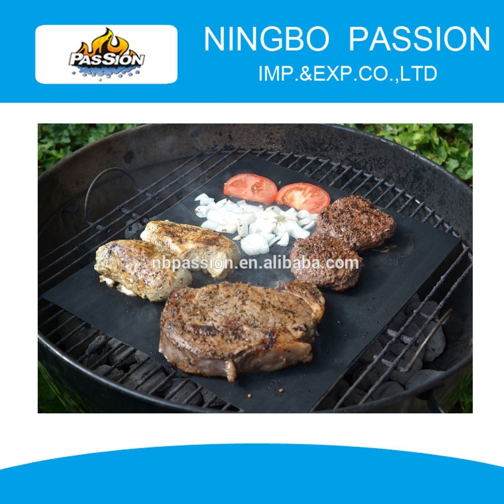 Bbq liner/bbq grill mat/barbecue niet- stok liner