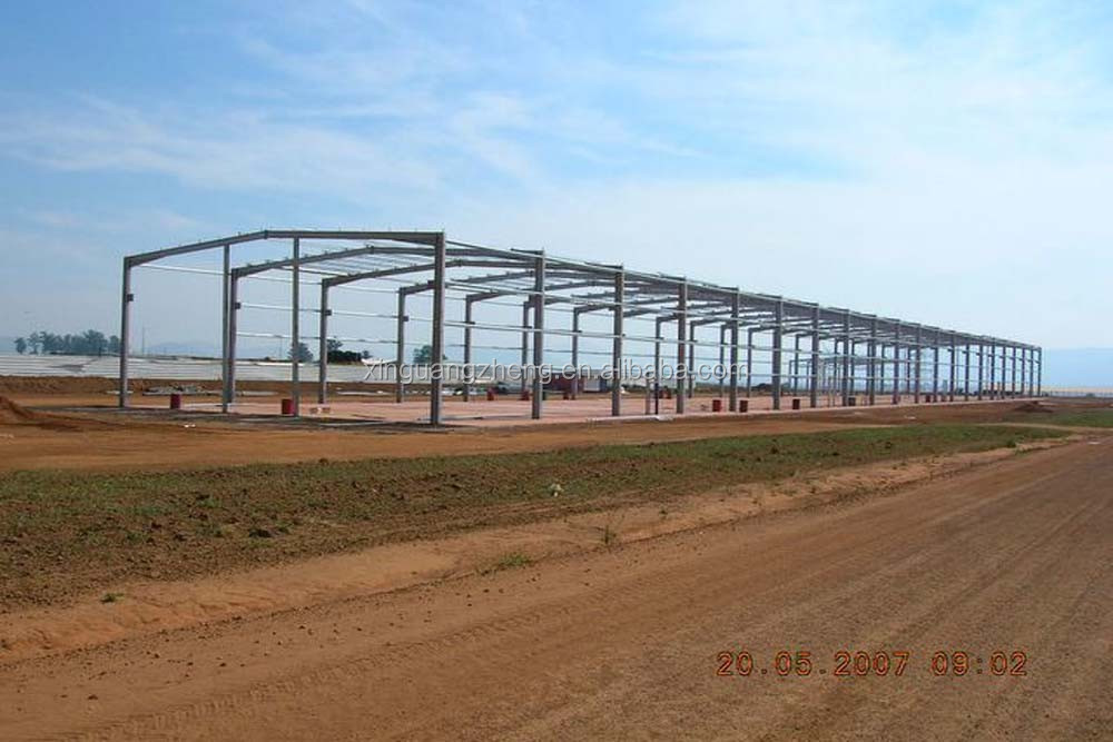 Prefab metal barn construction