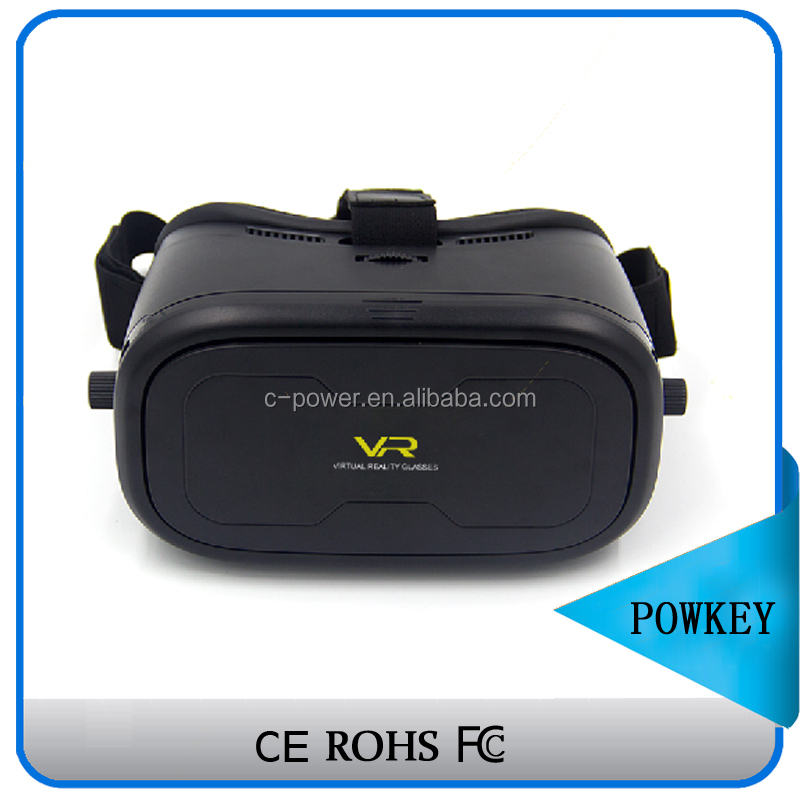 Anti blue ray thin light vr box all in one, easy to use google cardboard vr box2.0 mobile accessories promotional with bluetooth