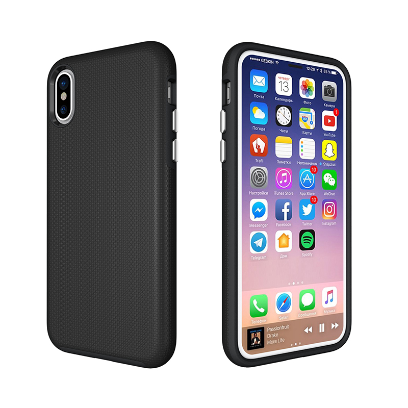 Manufacturer Wholesale For iPhone 8 Hybrid Combo Case I8 2 in 1 PC+Silicon Case Shockproof Defender Case