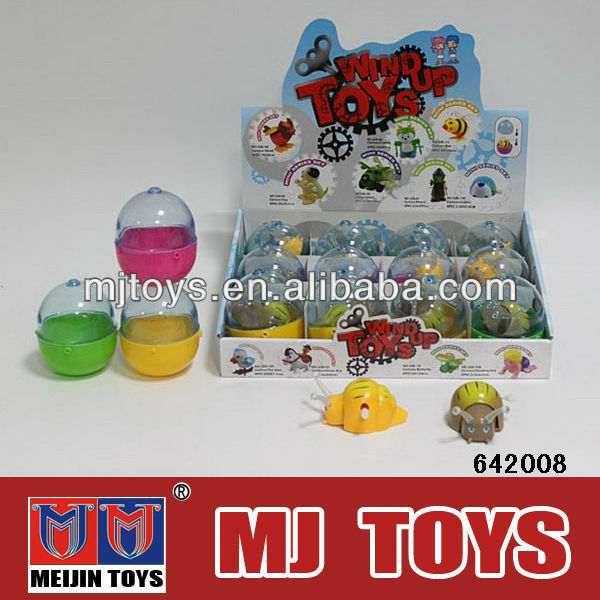 wind up toy sea anima 6 kinds shape ,kid promotion toy