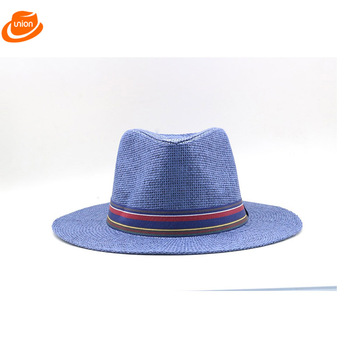 929232df72b Panama Pork Pie Shape Straw Hat Unisex Blue Or White - Buy Pork ...