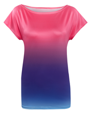 women clothing oem manufacturer polyester color changing tshirt