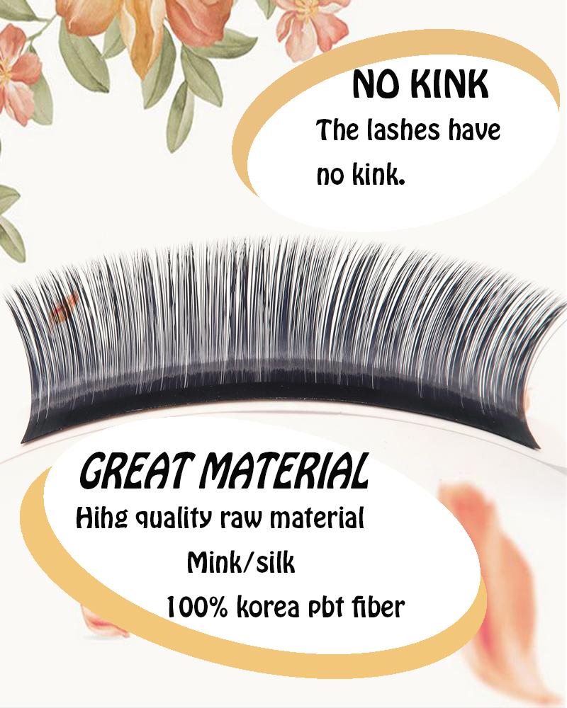 Korean Pbt Fiber Eyelash Extension Camellia Lashes Soft And Good Quality -  Buy Camellia Lashes,Eyelash Extension,Eyelash Extension Camellia Lashes