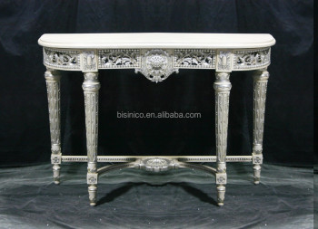 Nice Hand Carved Living Room Console Table, Antique Wooden Hall Console  Table, White Painted
