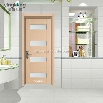 Pas Cher Prix Teck Contre Plaqué PVC Toilettes/salle De Bains Modèles De  Portes