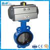 pneumatic stainless steel kits butterfly valve dn200 for sea water