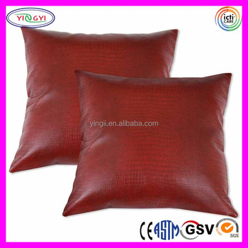 E40 Luxury Decorative Style Comfort Red Faux Leather Pillows Cases Inspiration Faux Leather Pillows Decorative Pillows