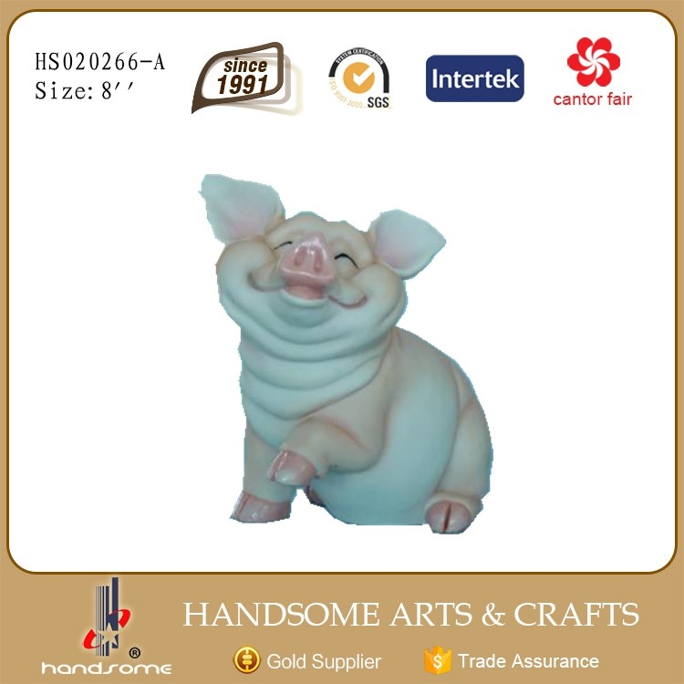 Cute pig statues resin statue for garden decoration home decor craft