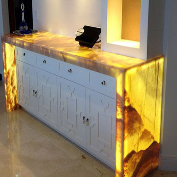 Luxury Honey Yellow Onyx Bar Top And Countertop