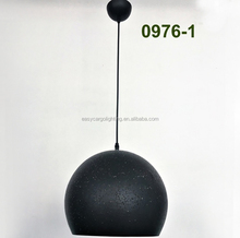 Top sale black iron chandeliers/pendant light/lamp Industrial Iron globe pendant lamp lighting 0976-1P