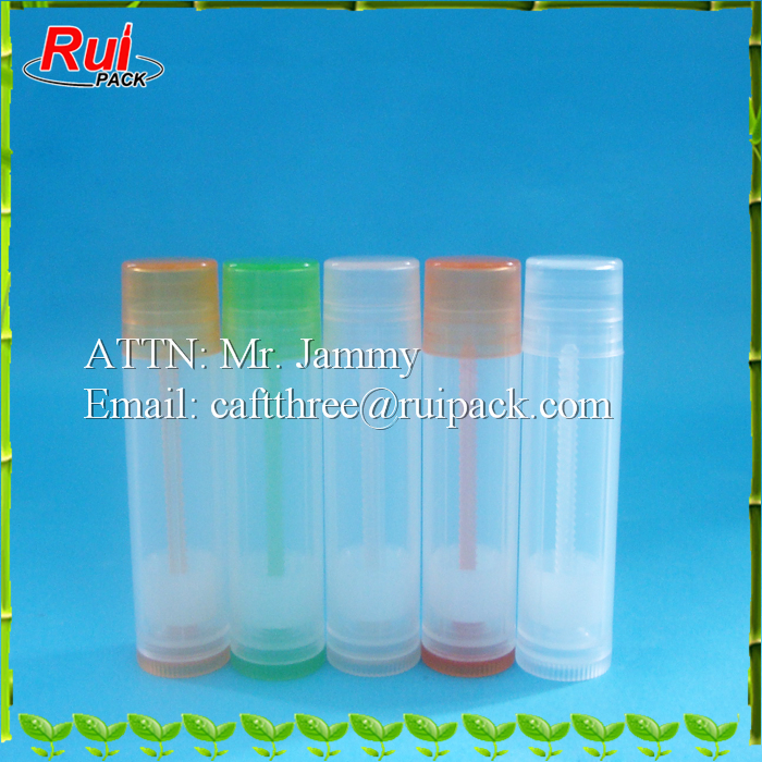 Colored chapstick tube, made in China cheapest lip balm tube