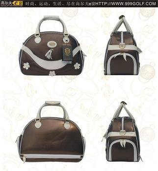 Helix ladies design PU golf shoe bag  women golf boston bag golf travel bag 14658eb742