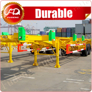 13T FUWA axle transport truck trailer chassis/ 40 feet container trailer