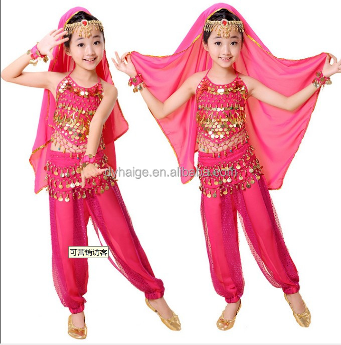 Enfants performance robe costume de danse du ventre