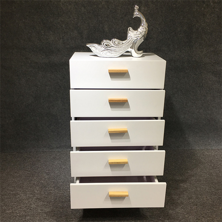 HOT SALE elegance style 5 layers drawers white  wooden chest of drawers for bedroom