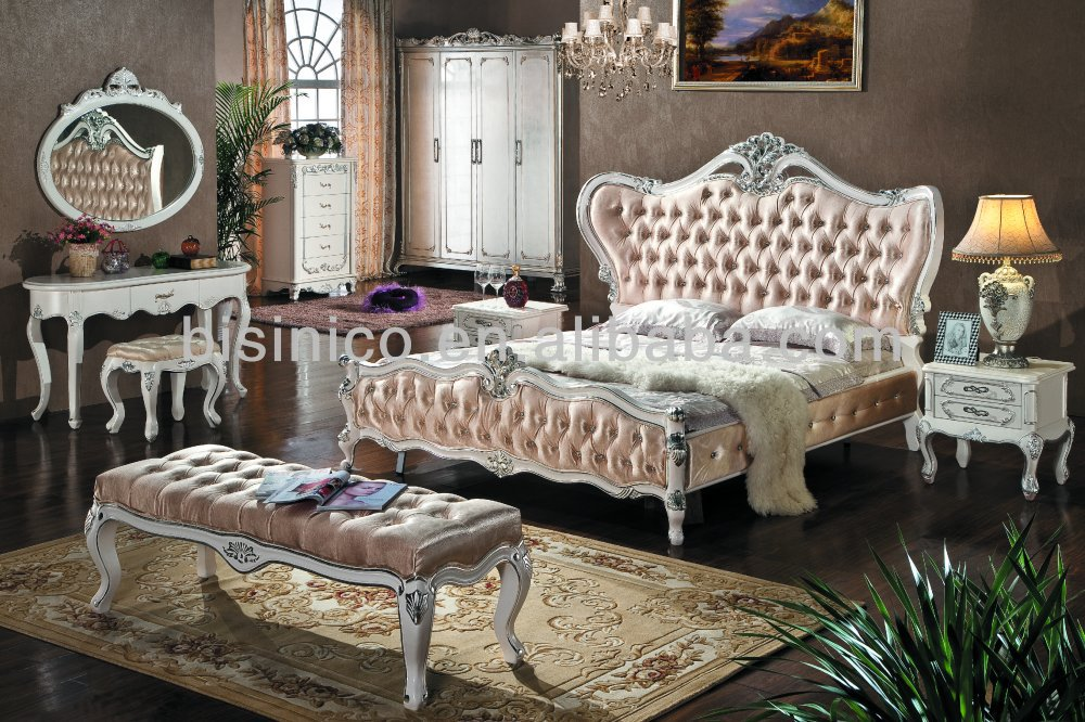 High Quality White Antique Bedroom Furniture Factory Offer Classical bedroom sets