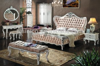 High quality white antique bedroom furniture factory offer classical bedroom sets buy vintage for Quality white bedroom furniture
