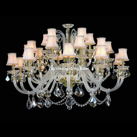 25 Lights Hot selling classical popular professional crystal chandeliers parts
