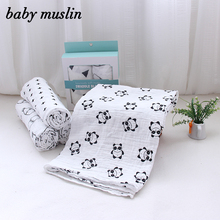 Hot sales newborn baby blankets clothes set muslin swaddle blanket