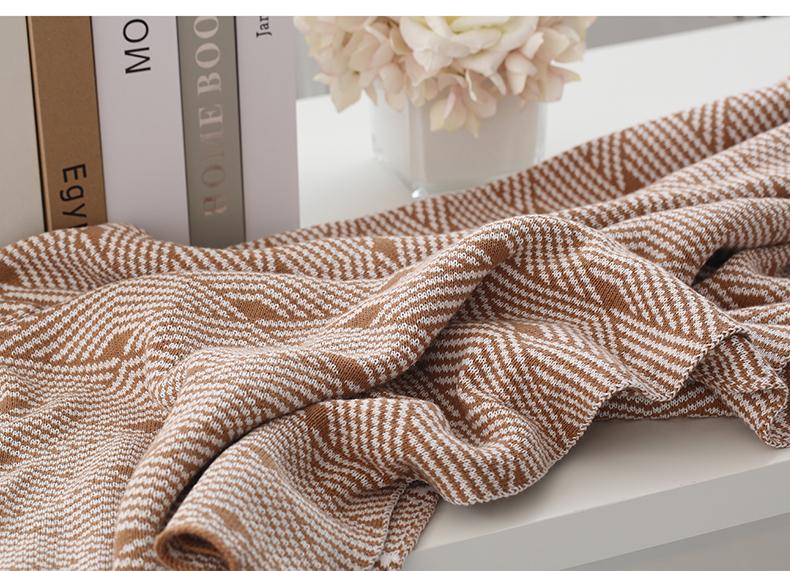 Fashion kwasten jacquard wearable katoen gebreide baby deken