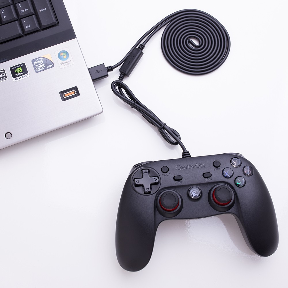 Awsome design free download emulator USB wried game controller for pc / ps3 / smartphone