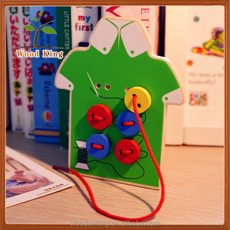 Coordination Fine Motor Dress Up The Buttons Children'S Handmade Children Educational Toy