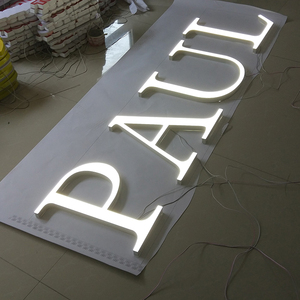 Super Bright Acrylic Frontlit Dimensional Characters Letters Sign Board Designs for Shops