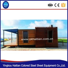 Nice looking in elegant design cheap prefab container home wooden house villa house container luxury log container house