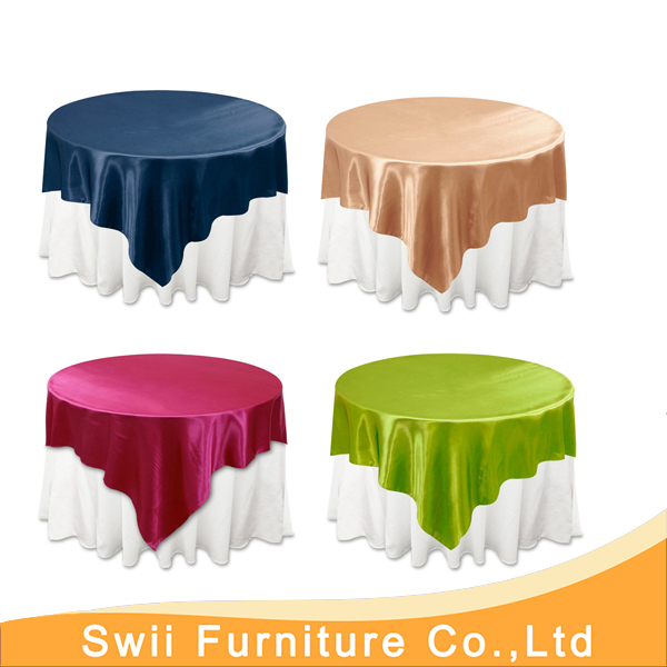 China Plastic Table Cover Round Decorative Cloth Dark Blue Poly Jacquard Tablecloth Luxury Banquet Damask